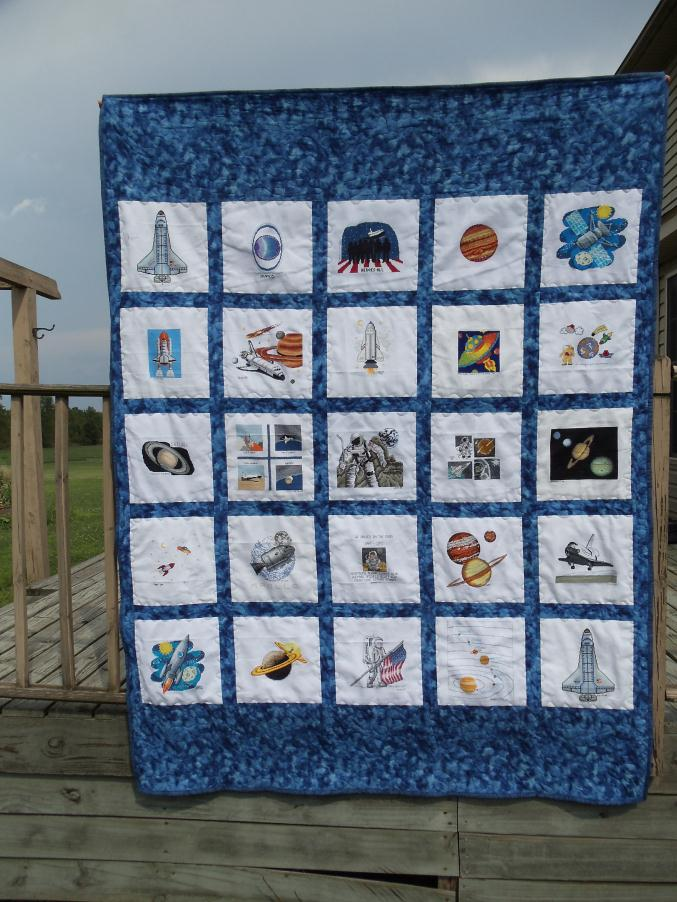 Christobals for Space shuttle quilt